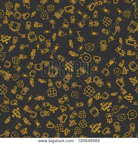 Taxi set pattern. Vector illustration EPS 10