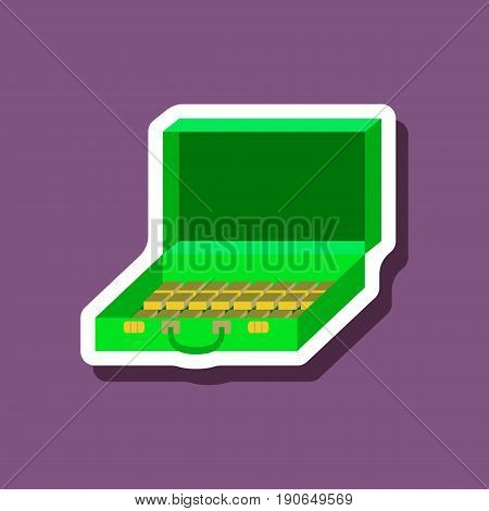 paper sticker on stylish background Case of money