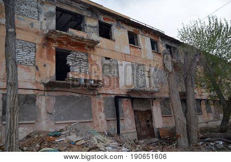Urban decay.Kazakhstan.May 7, 2017.Sary Shagan.Kazakhstan
