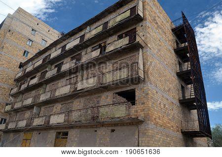 Urban decay.Kazakhstan.May 10, 2017.Sary Shagan.Kazakhstan