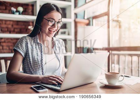 Girl In Cafe