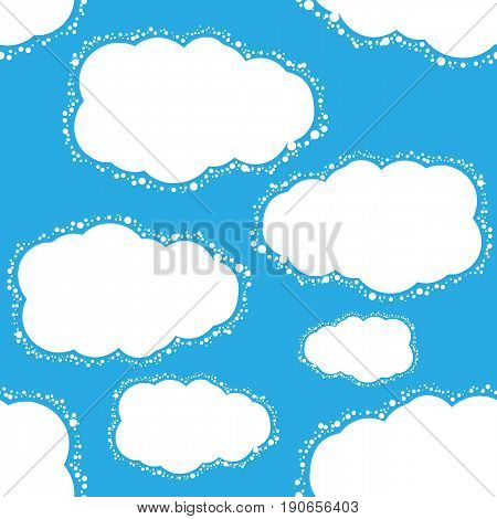 Vector seamless blue sky background. Pattern for design, brochures, wrapping. Eps10
