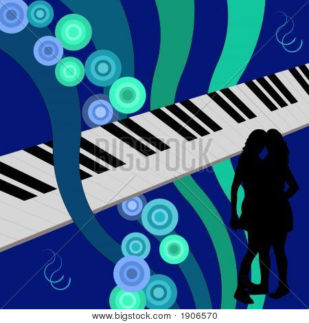 Dancing Girls On A Piano
