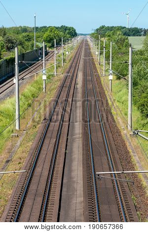 Two highspeed railroad tracks seen in Germany