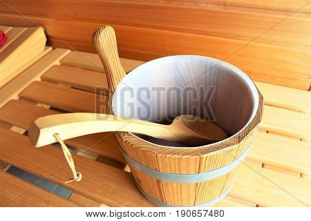 An image of a sauna - spa, beauty, wooden, healthy