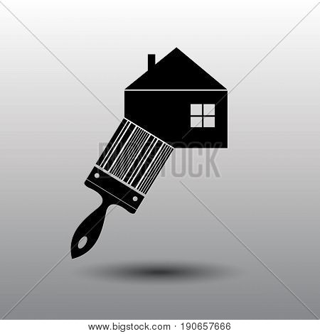 House repair logo. House Real Estate Construction Building Logo. House Vector. Tools icon. Repairs house sign. Home improvement icon.