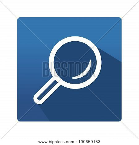 Flat Icon. Optic. Icon in trendy flat style isolated on blue background. Eye symbol for your web site design, logo, app. Vector illustration, EPS10