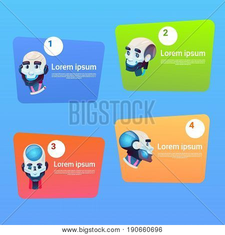 Chat Bot Robot Virtual Assistance Element Of Website Or Mobile Applications Artificial Intelligence Concept Flat Vector Illustration