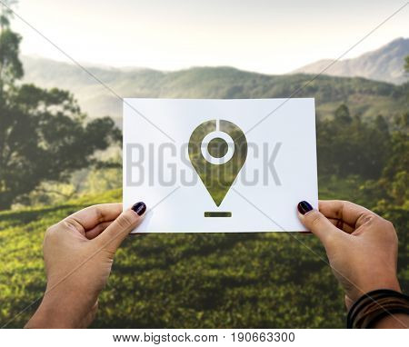 Global positioning system destination marker perforated paper