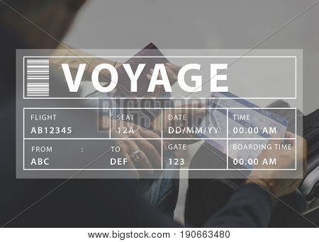 Senior Adult Couple Travel Together Lifestyle Word Graphic Web Booking