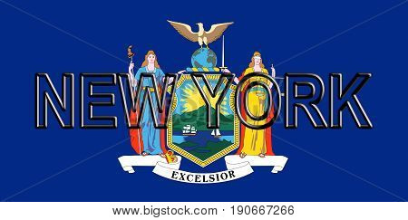 Flag Of New York Word