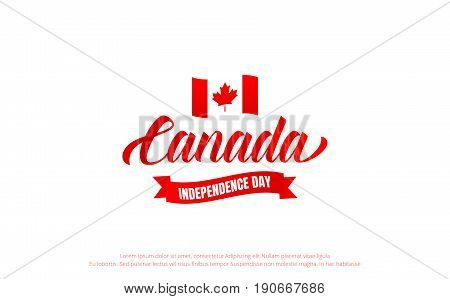 Canada Day. Canada 150 Years anniversary banner. Canada Independence Day.