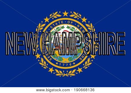 Flag Of New Hampshire Word