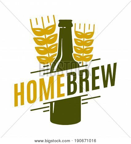 Homebrew vector logo template emblem design illustration