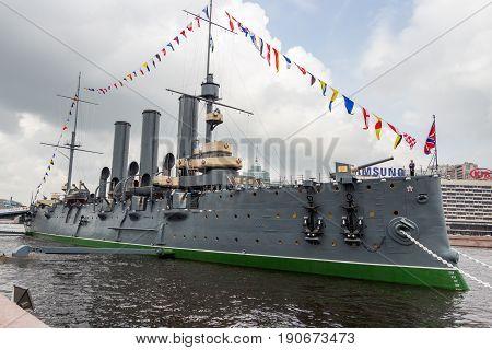 St. Petersburg Russia - July 29 2016: Cruiser
