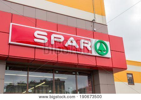 St. Petersburg Russia - July 29 2016: SPAR supermarket retail chain logo