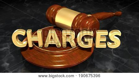 Charges Law Concept 3D Illustration