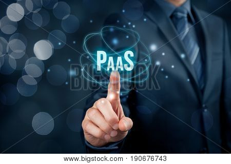 Platform as a service (PaaS) - cloud computing services concept. Platform for customers helps develop run and manage applications without building and administrate the infrastructure.