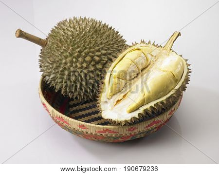 whole and half durian