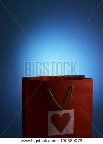 Close up image of paper bag, cropped