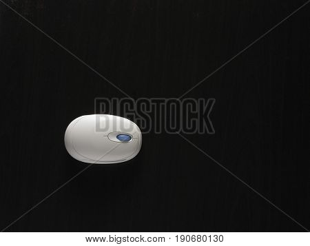 High angle view of computer mice on black background