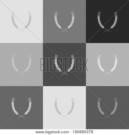 Wheat sign illustration. Spike. Spica. Vector. Grayscale version of Popart-style icon.