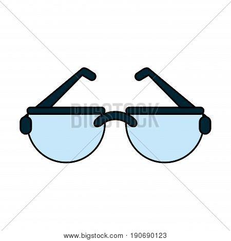 Glasses over white background design vector illustration