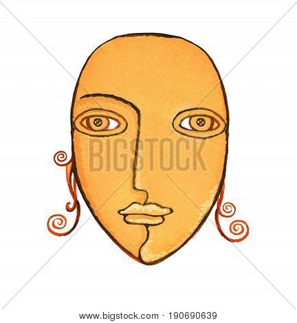 Astrological Sign Of The Zodiac Virgo As A Gingerbread, Isolated On A White Background