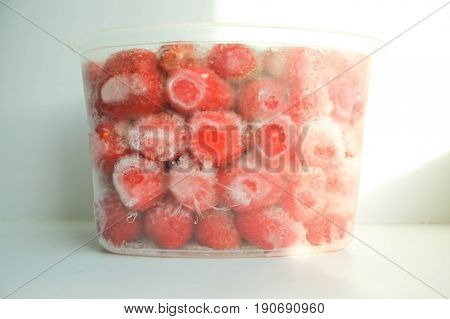 Berry In The Freezing. Berry Ice. Strawberry Large Red