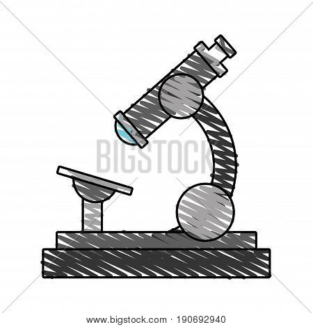 Gray stereoscope doodle over white background vector illustration