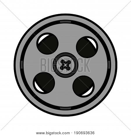video tape reel icon image vector illustration design