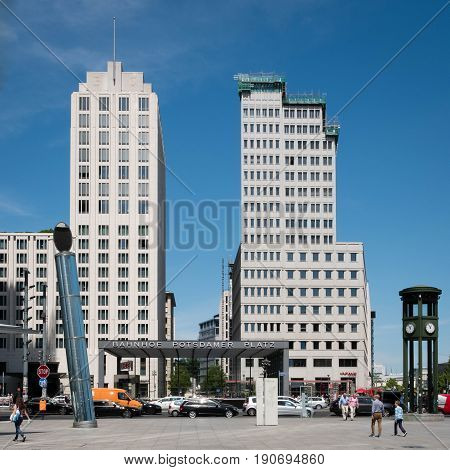 One Of The Entrances To The Underground Train Station Of The Potsdamer Platz In Berlin