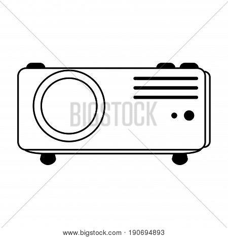 video projector icon image vector illustration design  black line