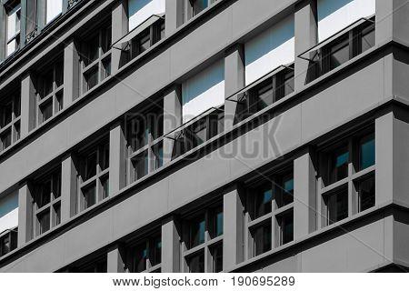 Grey Building Facade - Apartment House Exterior