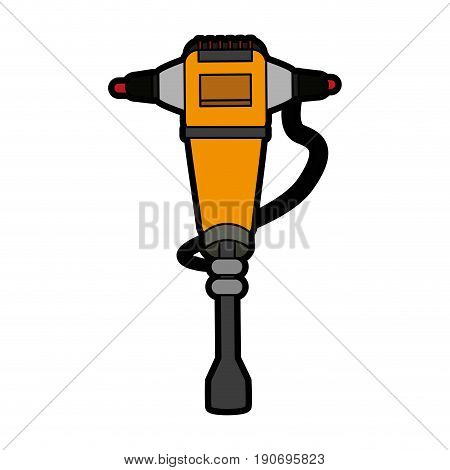 jackhammer heavy machinery icon image vector illustration design