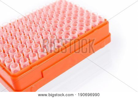 orange tip box for scientific experiment and Medical Research. Scientific card, poster and cover.