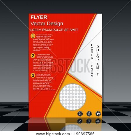 Professional business flyer vector template. Abstract geometric background