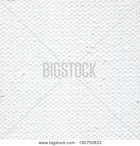 White linen canvas. Natural fabric texture wallpaper background. Canvas texture coated by white primer