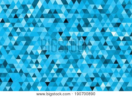 Abstract geometric seamless background - colored triangle in vector