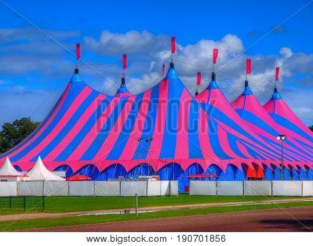Pink And Blue Big Top Circus Tent