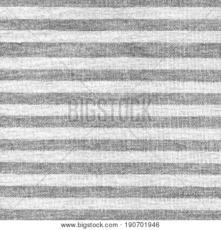 Beige gray stripe pattern on linen fabric. White fabric texture with stripes. Striped cotton texture