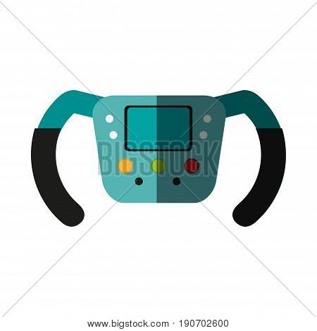steering wheel racer flat illustration design graphic icon vector shadow