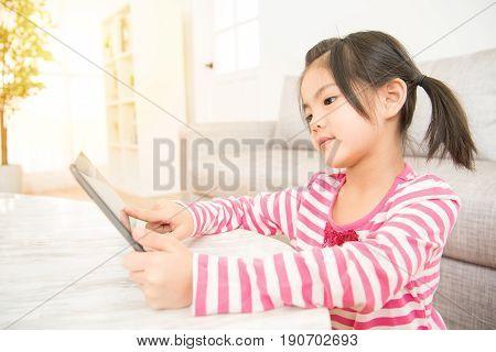Girl Having Fun Enjoy Using Digital Tablet
