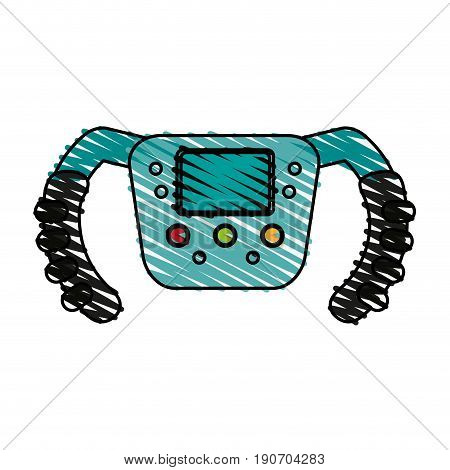 steering wheel racer doodle illustration design graphic icon vector