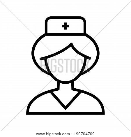Nurse icon. Simple outline nurse vector icon on white background