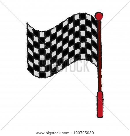 racing flag draw illustration icon vector design graphic