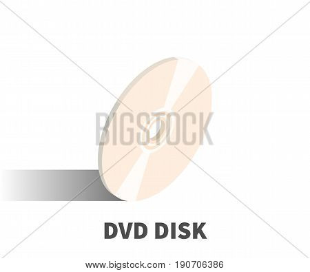 Dvd Disc Icon, Vector Symbol In Isometric 3D Style Isolated On White Background.