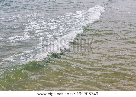 The small waves forming on the tropical sea nature and tranquil scene.