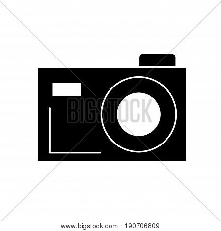 contour digital camera to capture the nice moments vector illustration
