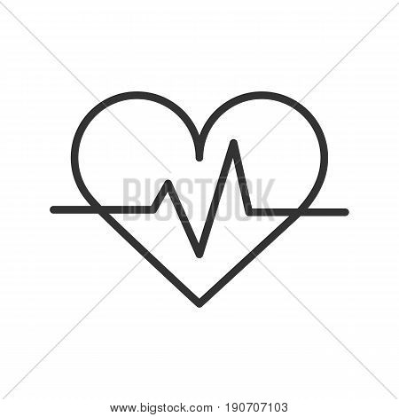 Palpitation linear icon. Thin line illustration. Vector isolated outline drawing